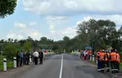 Мост между Луганской и Донецкой областями открыт после ремонта