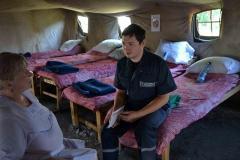 Психологи Служби порятунку продовжують надавати допомогу потребуючим у наметових містечках для внутрішньо переміщених осіб