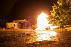 На съемочной площадке «Ворошиловграда» взорвался бензовоз