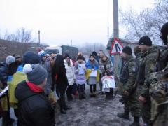 Северодонецкие школьники в гостях у воинов АТО