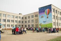 В Северодонецке ЮНИСЕФ вместе с детьми нарисовали мурал