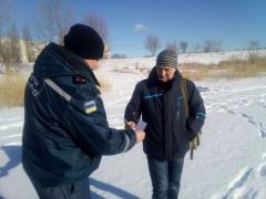 Сєвєродонецьк: рятувальники провели рейд серед рибалок озера Чисте